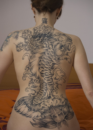 Full body tattoo women angelic