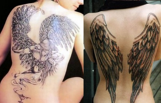 be as free as these beautiful winged creatures. Angel wings tattoos