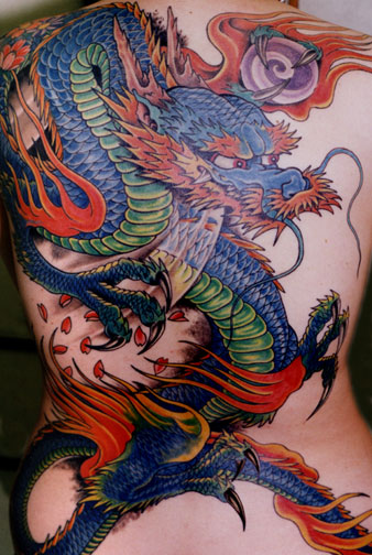 Nowadays dragon tattoo designs become more and more popular among women.