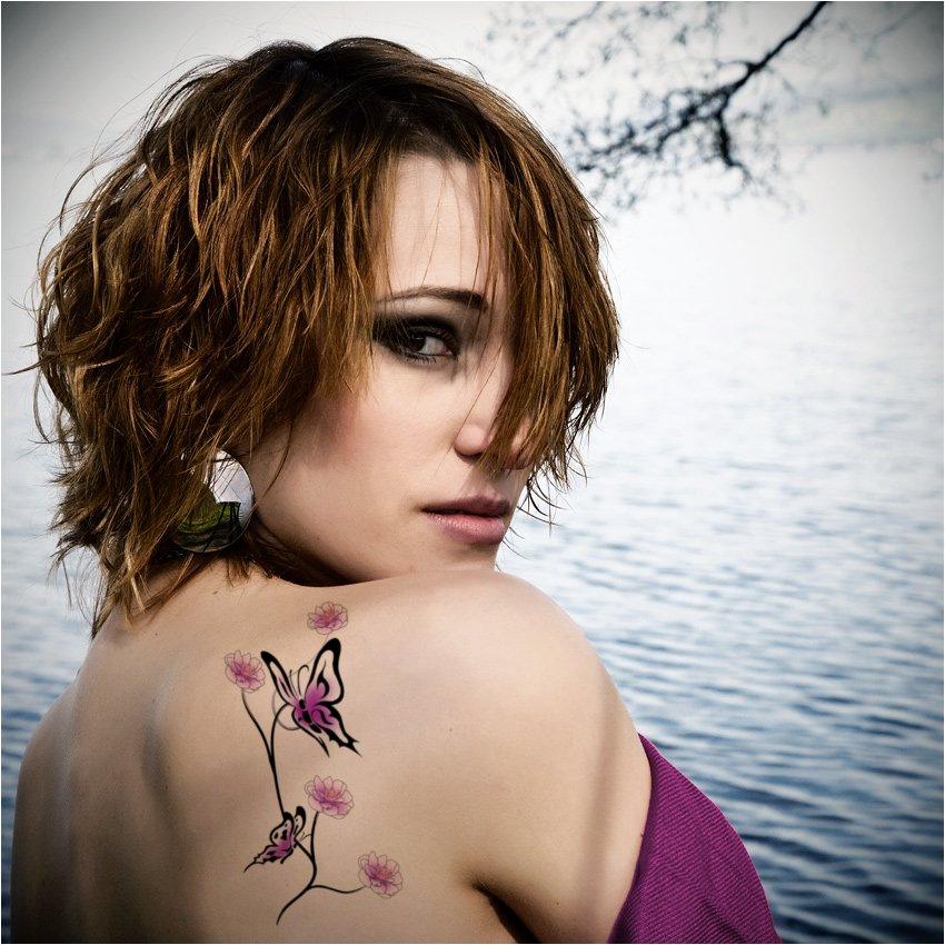 Butterfly tattoo designs are also symbols of elegant beauty ...