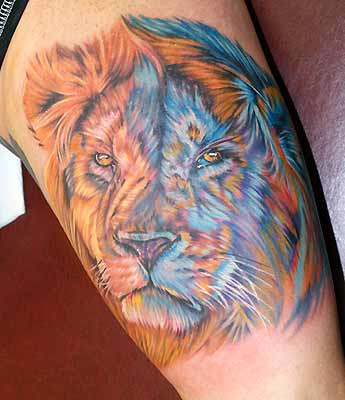 Some people also use lion tattoo designs to remind themselves or everybody