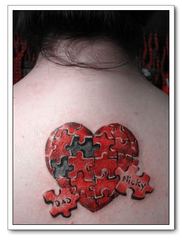 Though heart tattoo designs can have a number of different meanings,
