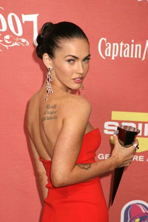 The well known example is Megan Fox tattoo with famous quote